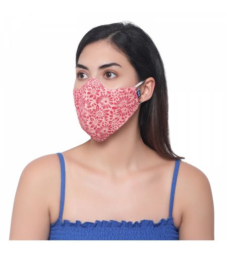 Organic Cotton Pink Mask (pack Of 2)