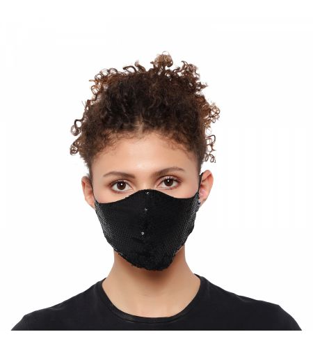 Party Wear Black Mask (pack Of 2)