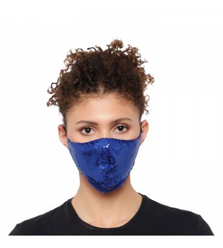 Party Wear Blue Mask (pack Of 1)