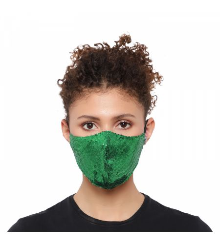 Party Wear Green Mask (pack Of 1)