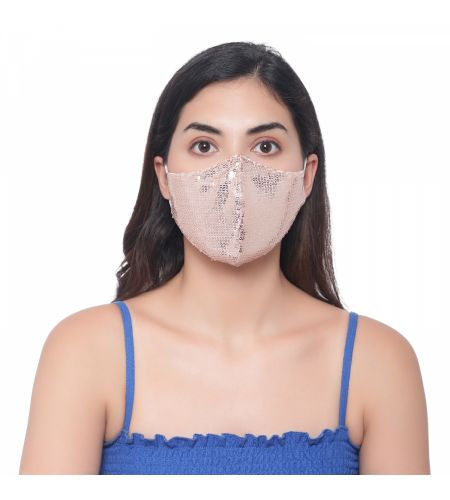 Party Wear Light Pink Mask (pack Of 2)