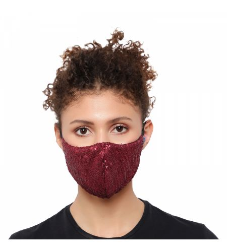 Party Wear Maroon Mask (pack Of 1)