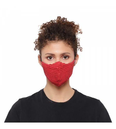 Party Wear Red Mask (pack Of 1)